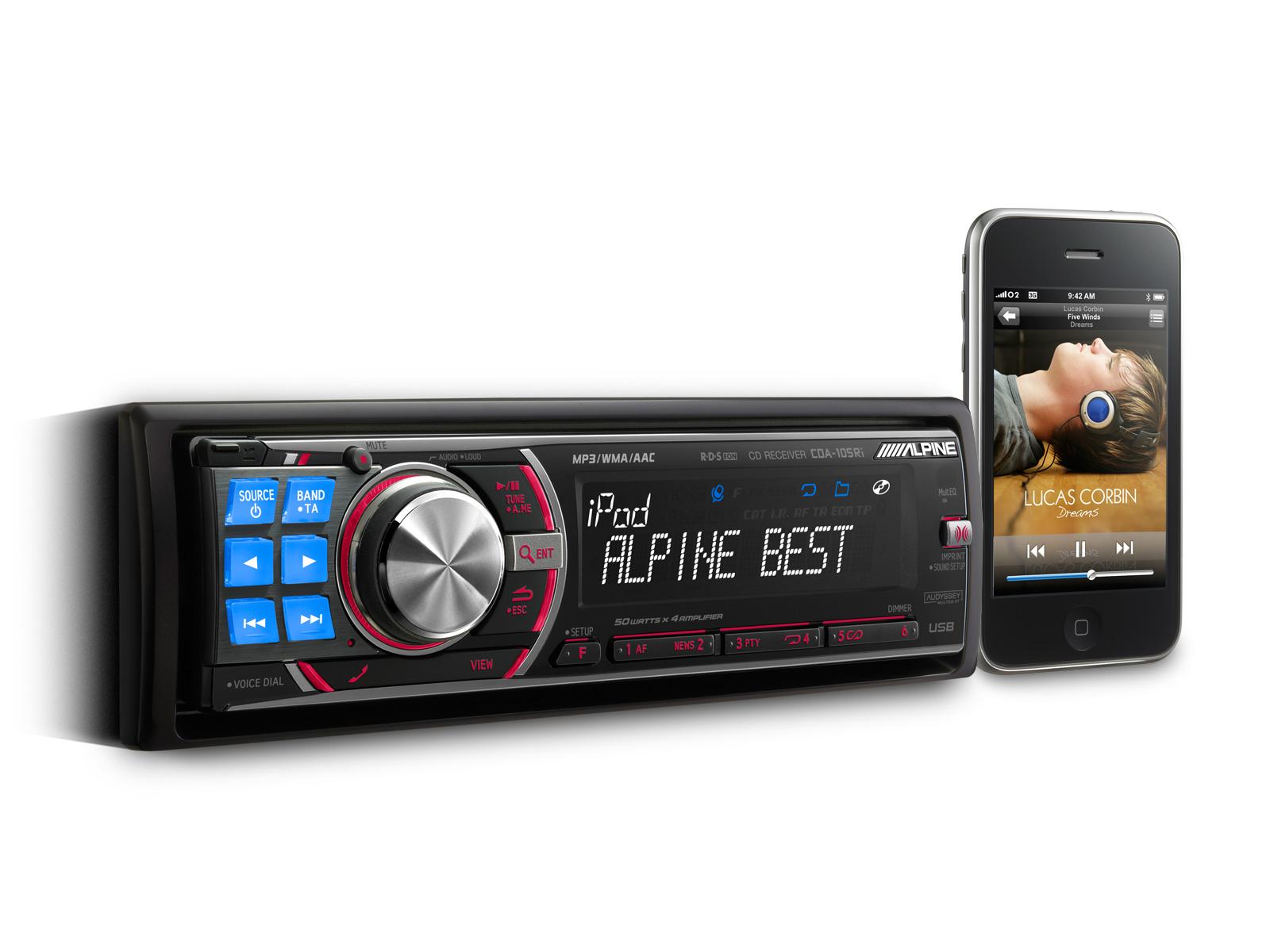 Cd Receiver Usb Ipod Controller Alpine Cda 105ri Iphone 4 Wiring Diagram