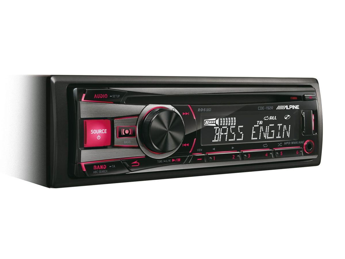 Cd receiver with usb and ipod controller alpine cde 192r sciox Images