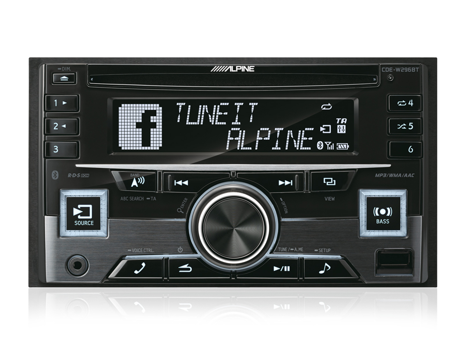 2 Din Cd Receiver With Bluetooth Alpine Cde W296bt Download Image 100 Amp Sub Panel Wiring Diagram Pc Android Iphone