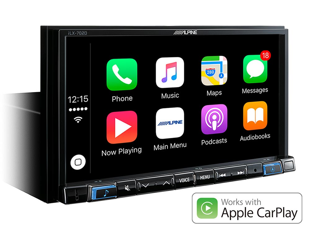 "7"" Digital Media Station, featuring Apple CarPlay and Android Auto"