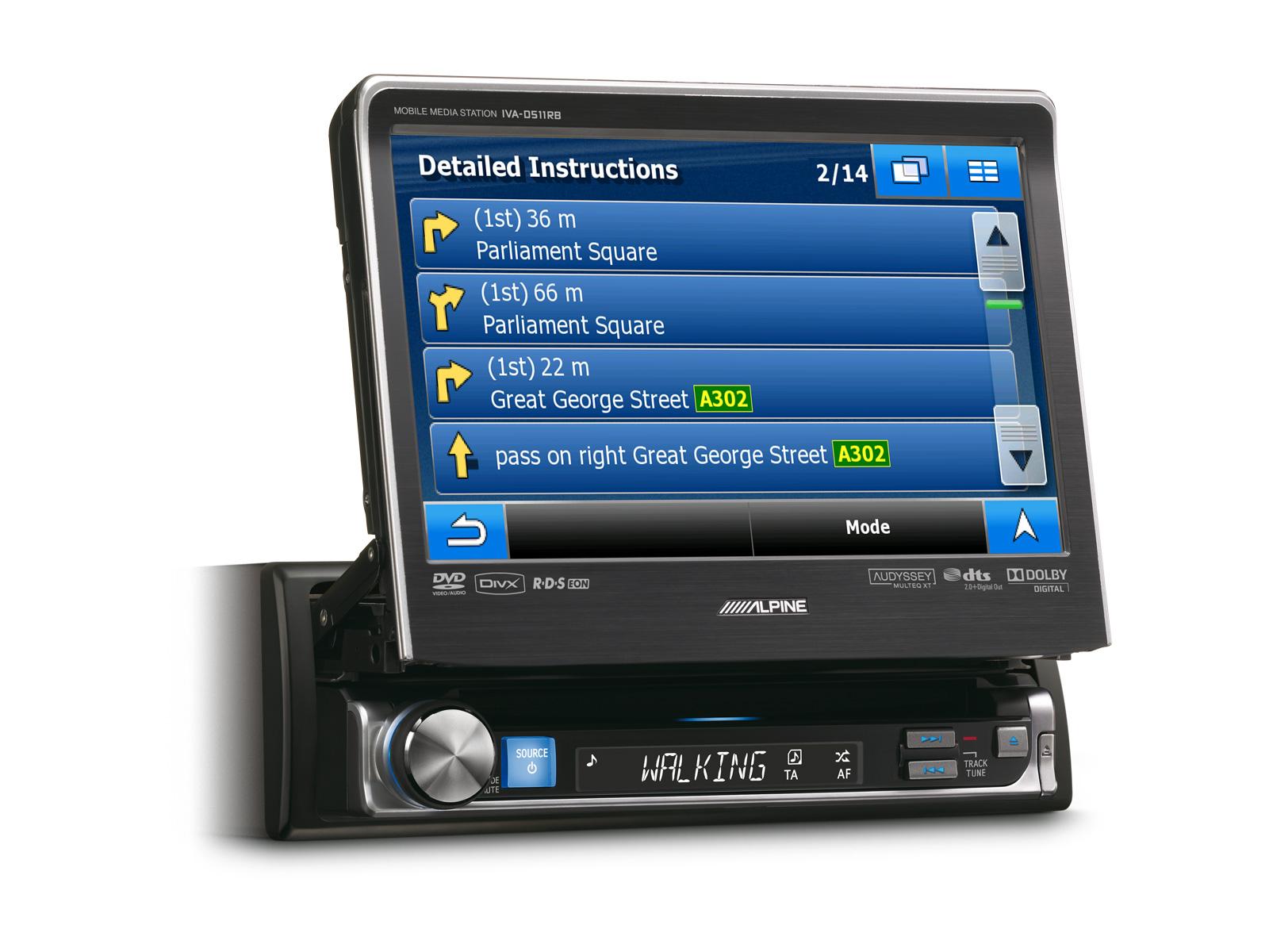 1DIN MOBILE MEDIA STATION - Alpine - IVA-D511R_IVA-D511RB