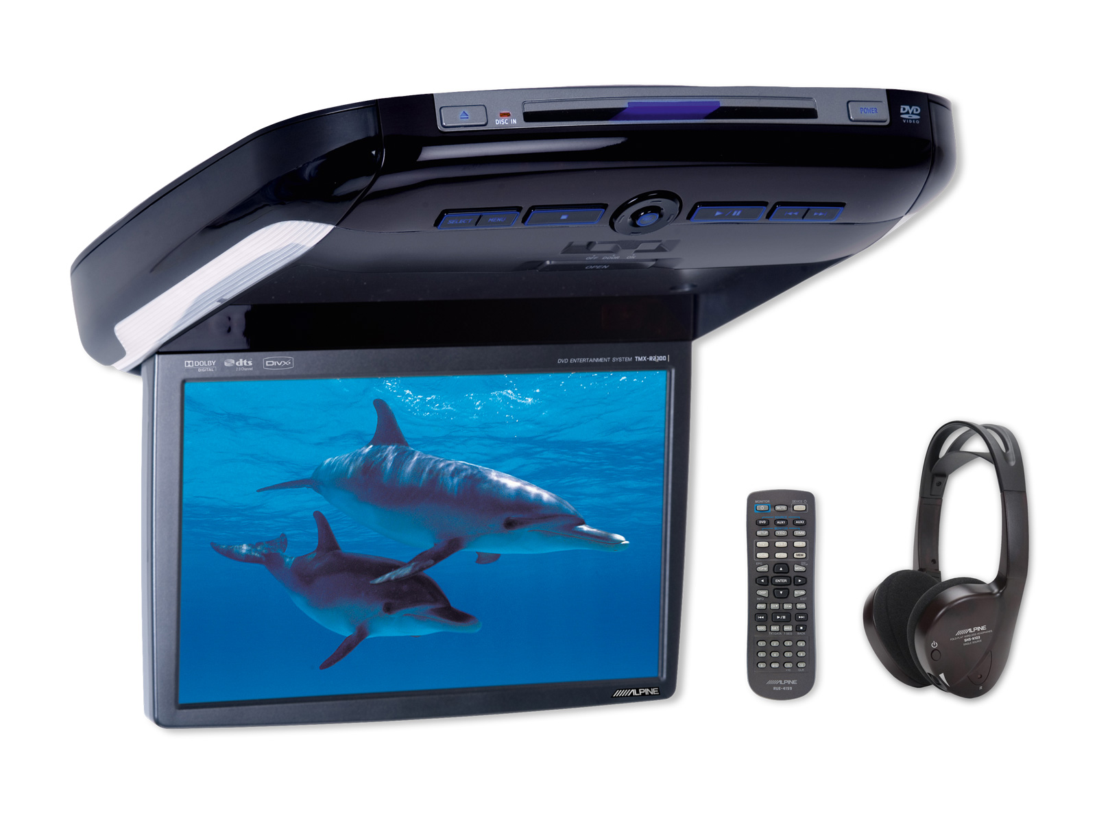 """PKG-2100P - 10,2"""" WVGA Overhead Monitor with DVD-Player"""