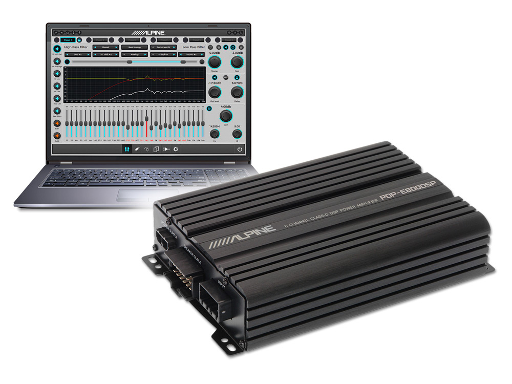 8-Channel Digital DSP Amplifier - Alpine - PDP-E800DSP on