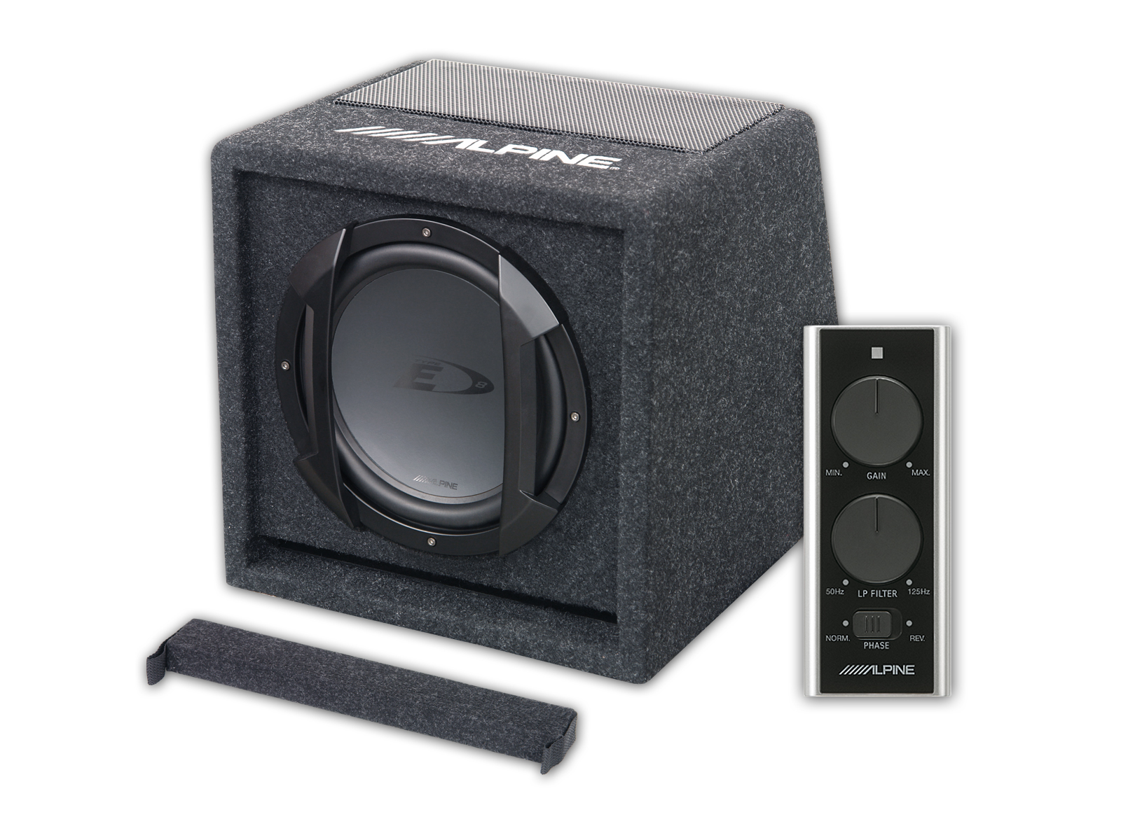 8 20cm Amplified Subwoofer Box Alpine Swe 815 Power Supply To A Car Amplifier For Subwoofers In Your Home