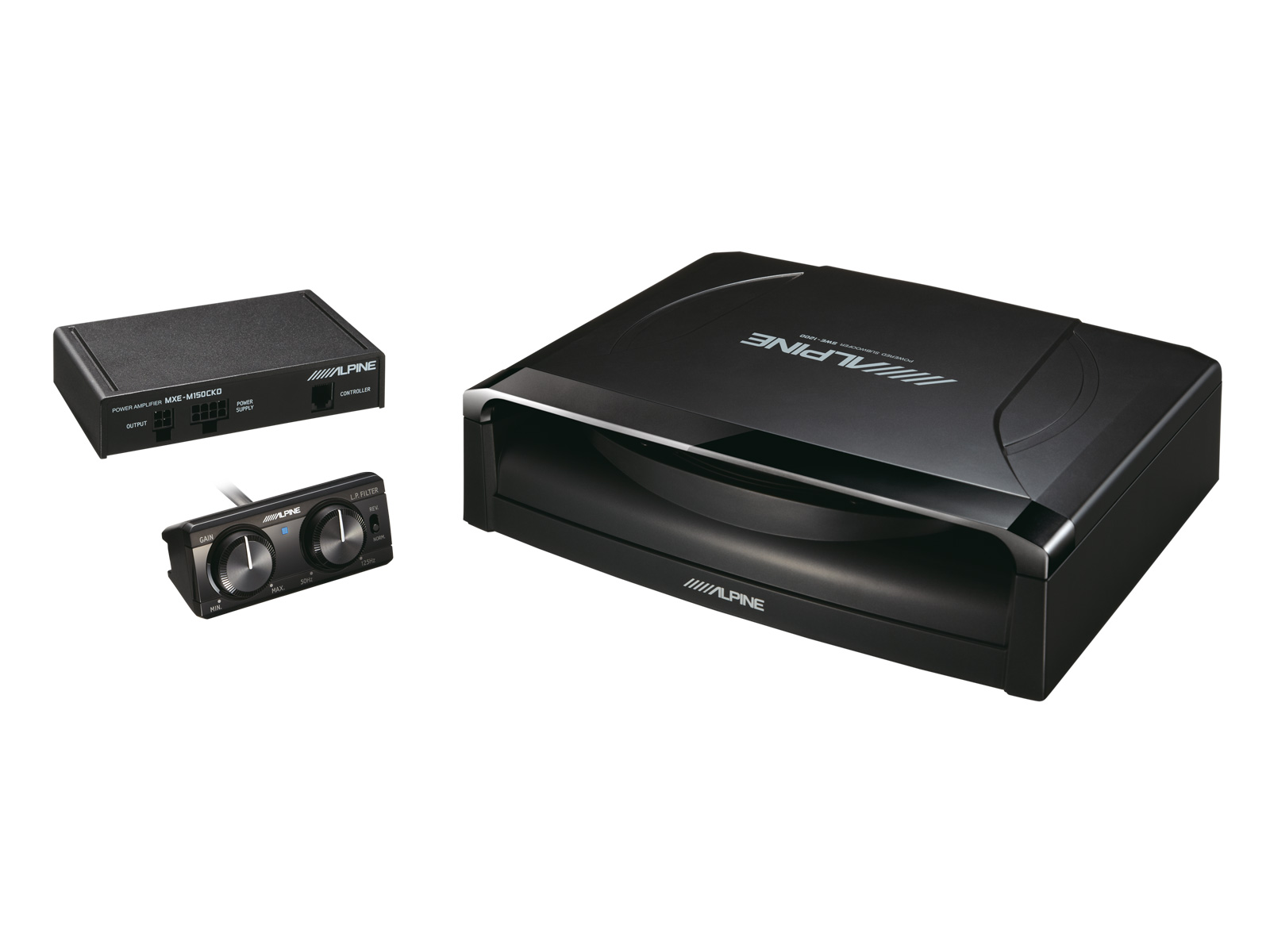 8 20cm Powered Subwoofer Alpine Swe 1200 12quot 1500w Active Car Sub Bass Box Wiring Kit And