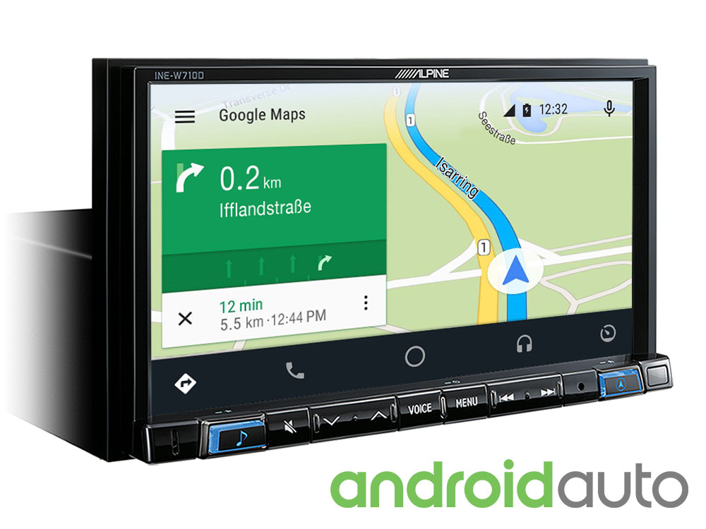 "7"" Touch Screen Navigation with TomTom maps, compatible with Apple"
