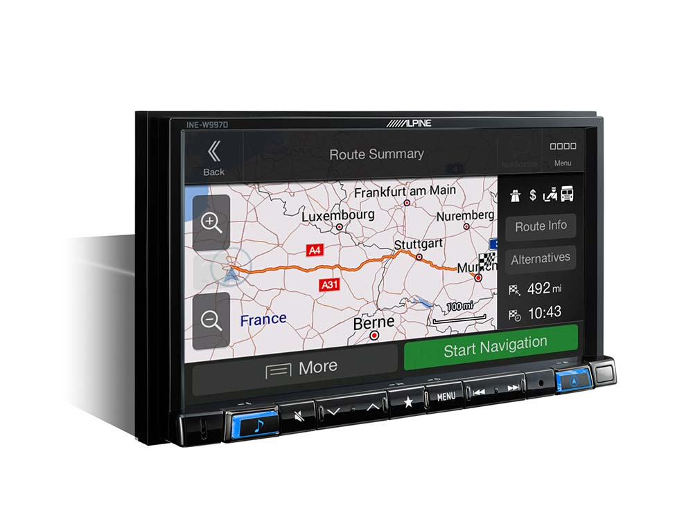 """7"""" Touch Screen Navigation with pre-installed Caravan, Camper and"""
