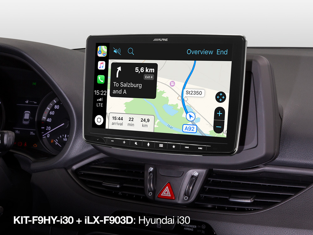 Alpine iLX-F903D installation Kit for Hyundai i30 from 2017 and