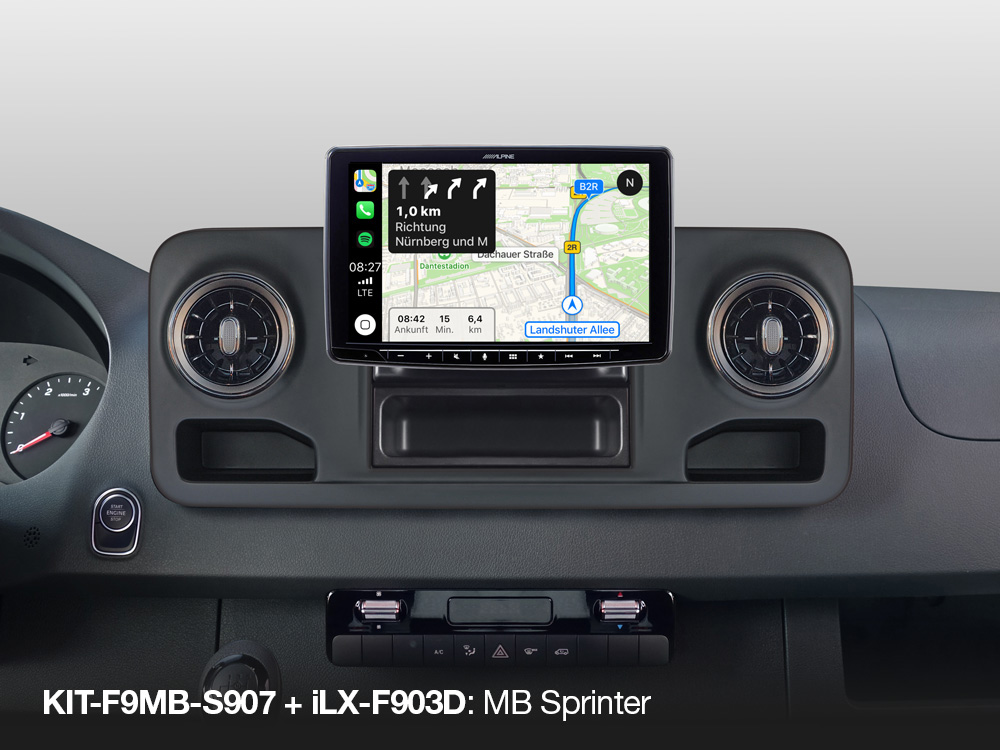 Alpine iLX-F903D installation Kit for Mercedes Sprinter S 907 (VS 30