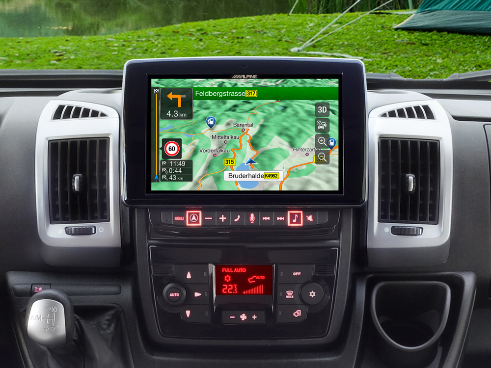 "9"" Touch Screen Navigation for Fiat Ducato 3, Citroën Jumper 2 and"
