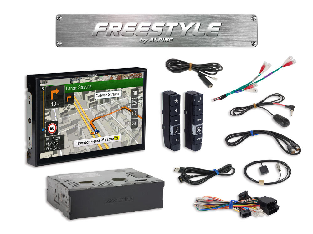 style 9 inch navigation system for custom installation loading zoom