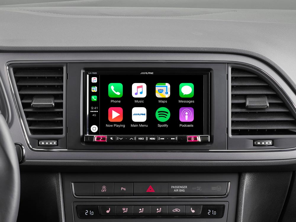 7 Mobile Media System For Seat Leon Featuring Apple