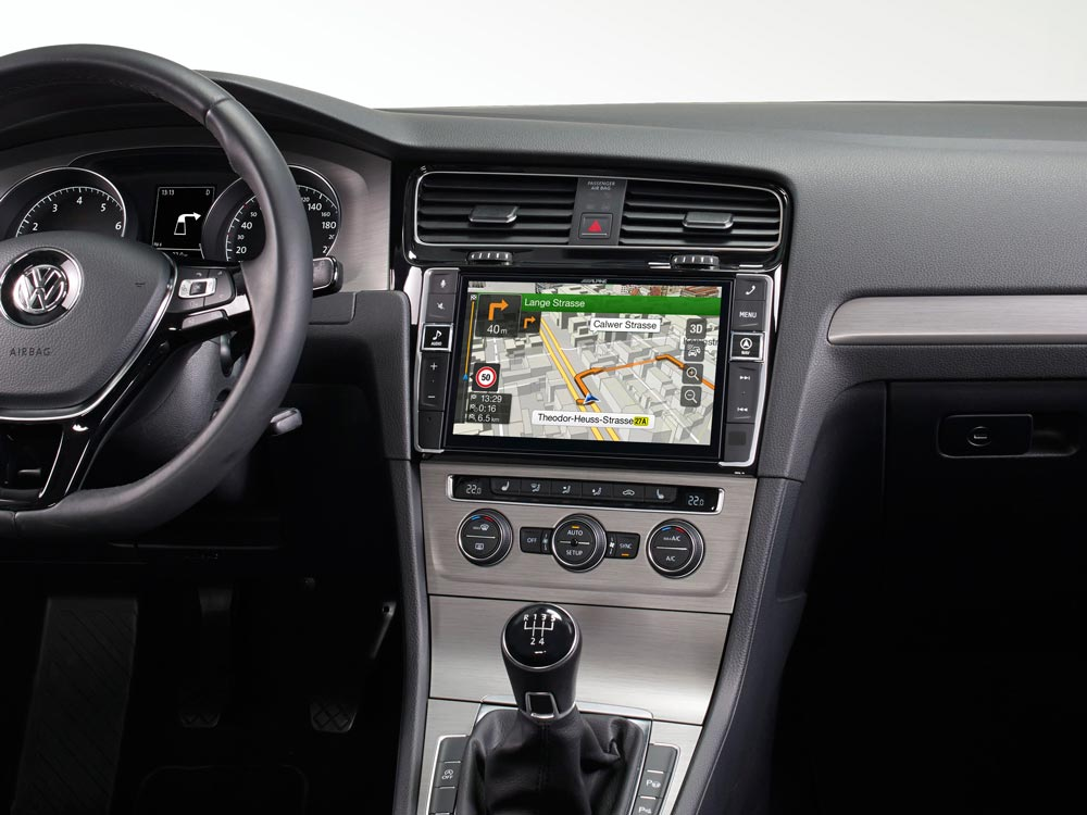 "9"" Touch Screen Navigation for Volkswagen Golf 7 with TomTom maps"