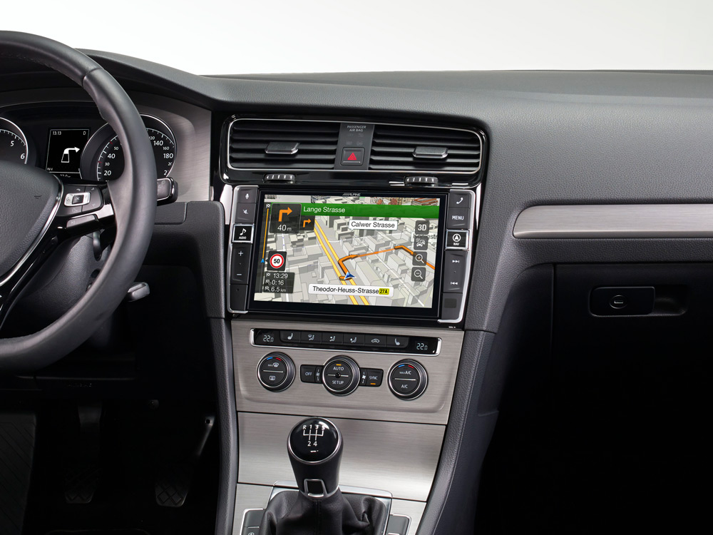 "9"" Touch Screen Navigation for Volkswagen Golf 7 with TomTom"