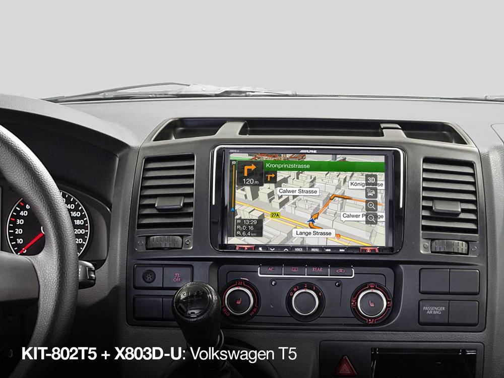 VW Transporter California T5.1 Double DIN Stereo Radio Fascia Panel /& Wiring Kit