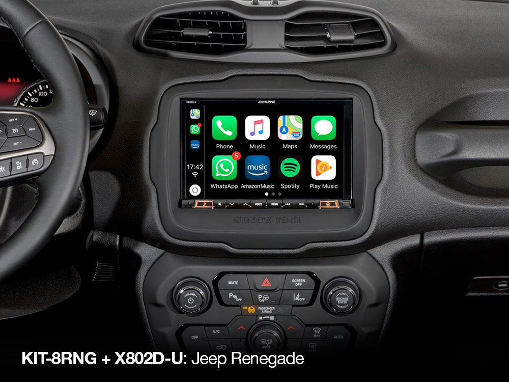 8 inch Installation Kit for Jeep Renegade - Alpine - KIT-8RNG