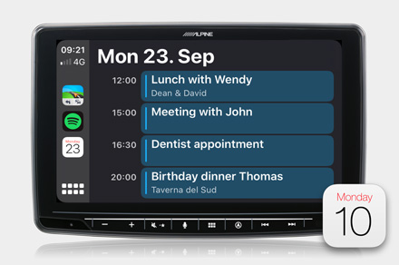 INE-F904D - Calendar (Apple CarPlay)