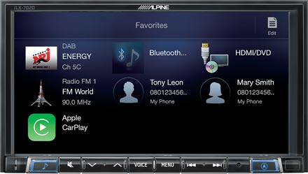 Favourites - Digital Media Receiver iLX-702D