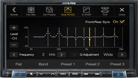 High-end Sound Tuning Options - iLX-702D
