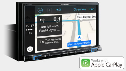 Online Navigation with Apple CarPlay - iLX-702D
