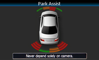 Интерфейс Alpine VW сохраняет визуальное представление оптических парковочных датчиков