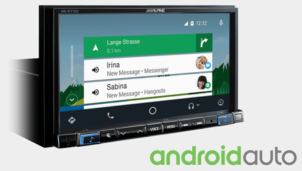 Works with Android Auto - INE-W710DC