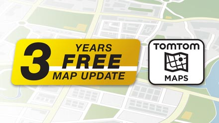 TomTom Maps with 3 Years Free-of-charge updates - INE-W720D