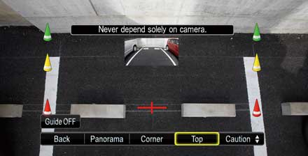 Multi-View Rear Camera HCE-C252RD for Audi A4 - Audi A5 - Top view: convenient for precise reversing, for example to hook up a trailer.
