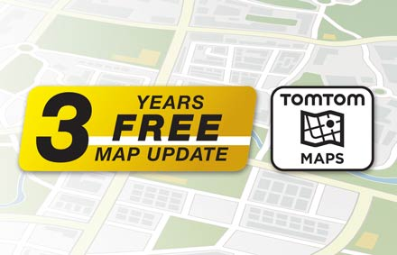 TomTom Maps with 3 Years Free-of-charge updates - X902D-EX