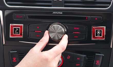 Audi A4 - X703D-A4: Alpine Control Panel