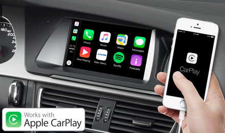 7 Inch Touch Screen Navigation For Audi A5 With Tomtom Maps Compatible With Apple Carplay And