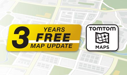 TomTom Maps with 3 Years Free-of-charge updates - X702D-Q5R