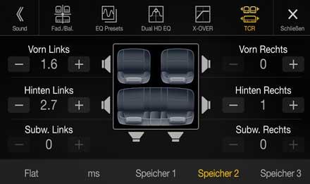 Audi A4 - Audi A5 - X701D-A4R: Premium Sound Quality - Sound Setting