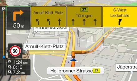 Audi A4 - Audi A5 Navigation System - X701D-A4R: TMC Route Guidance