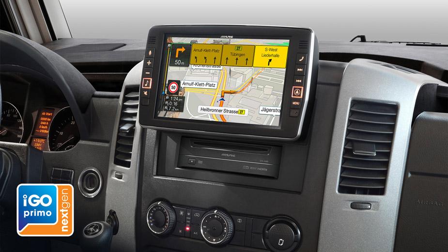 9 touch screen navigation for mercedes sprinter. Black Bedroom Furniture Sets. Home Design Ideas