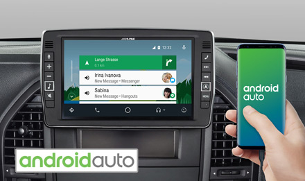 Mercedes Vito - Works with Android Auto - X903D-V447