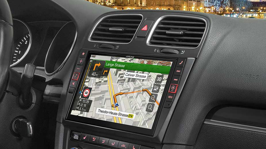 navigation system for volkswagen golf 6 alpine x901d g6. Black Bedroom Furniture Sets. Home Design Ideas