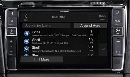 Golf 7 - Navigation - Points of Interest  - X903D-G7R