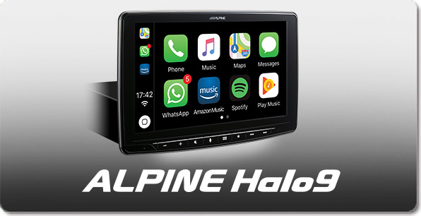 "1DIN Chassis – 9"" Screen, featuring Apple CarPlay and Android Auto compatibility"