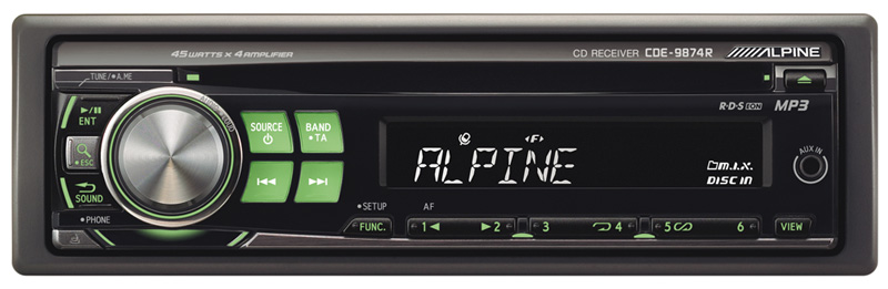 CDE 9874R cd receiver ipod� controller alpine cde 9874rb alpine cde 9874 wiring diagram at mifinder.co
